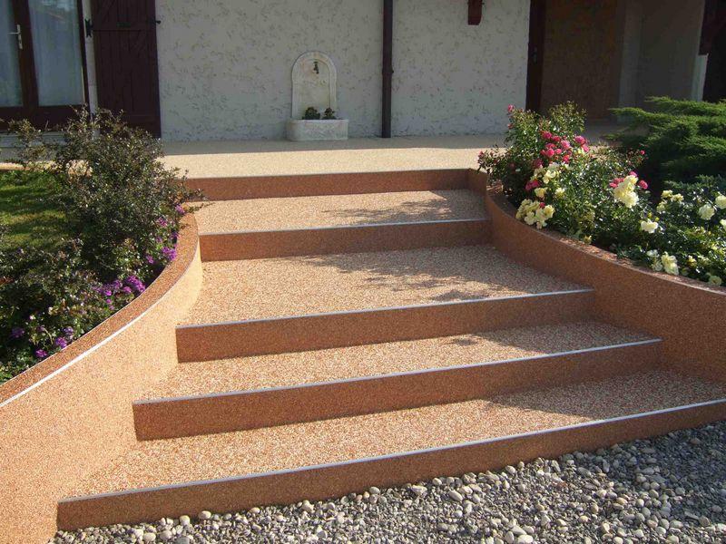 Rev tement de sol granulat de marbre moquette de for Resine pour mur exterieur