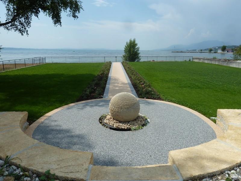 Rev tement de sol granulat de marbre moquette de pierre r sine sol ext - Resine au sol exterieur ...
