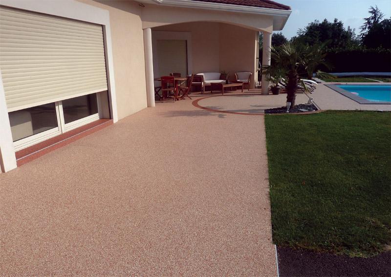 Rev tement de sol granulat de marbre moquette de for Revetement sol exterieur resine