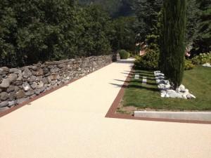 allée jardin cour béton cour extérieur